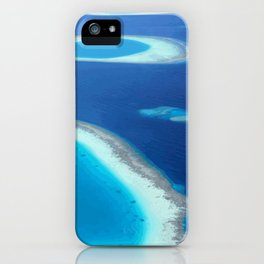 Blue Ocean White Sand Lagoons Maldives Island Paradise iPhone Case