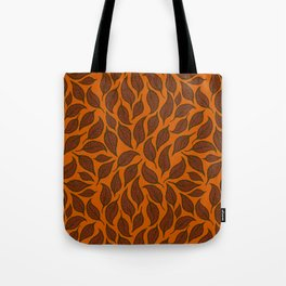 V.01 - Striated Leaves - Brown Leaves Tote Bag