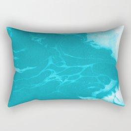 Asi - modern minimal abstract original painting watercolor japanese marble paper marbling Rectangular Pillow