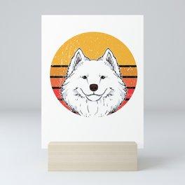 Cute Vintage Samoyed Puppy Dog Owner Gift Mini Art Print