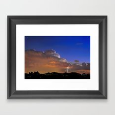 Playing to the Evening Framed Art Print