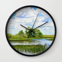 Everglades Reflections Wall Clock