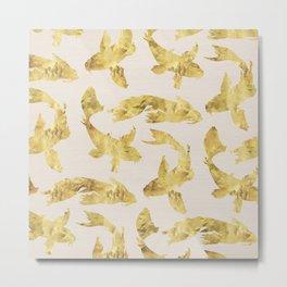 Gold Kois Metal Print