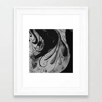 reassurance Framed Art Prints featuring Ink II by Magdalena Hristova