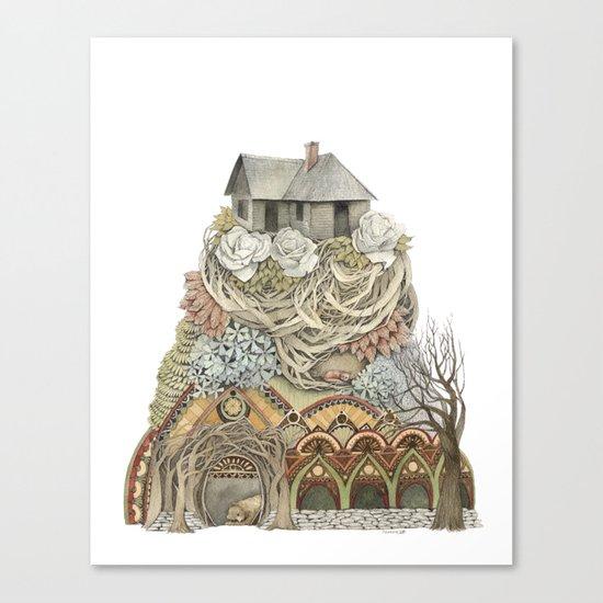 Sweet Home I // Forest Illustration Canvas Print