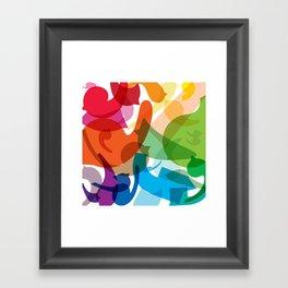 Merging Jolly Framed Art Print
