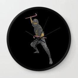 Christmas Ninja Wall Clock