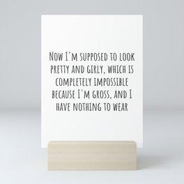 Nothing to Wear Mini Art Print
