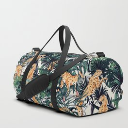 Cheetah in the wild rainforest Duffle Bag