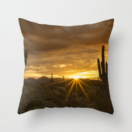 A Southwestern Sunrise Throw Pillow
