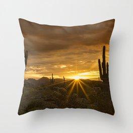 A Southwestern Sunrise Throw Pillow