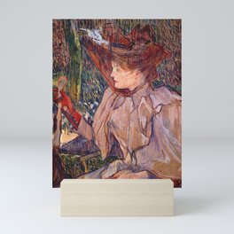 Woman with Gloves by HT-L Mini Art Print