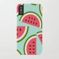 watermelon iPhone & iPod Cases featuring Watermelon by Cute Cute Cute