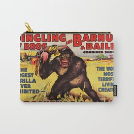 1938 Ringling Brothers and Barnum & Bailey Big Top 'GARGANTUA the Great' Circus Poster Carry-All Pouch