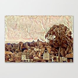 The Skyline at Veste Kronach Canvas Print