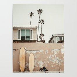 San Diego Surfing Poster