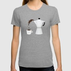 Espresso Time! LARGE Womens Fitted Tee Tri-Grey