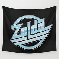 zelda Wall Tapestries featuring Zelda // Magna by Daniel Mackey
