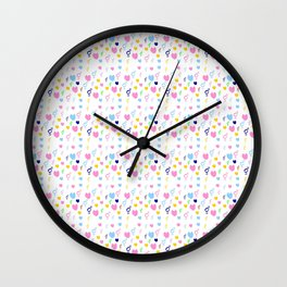 heart and transgender 4 multicolor Wall Clock