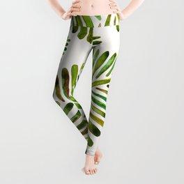 Tropical Banana Leaves – Green Palette Leggings