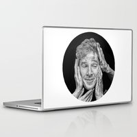 cumberbatch Laptop & iPad Skins featuring Benedict Cumberbatch  by Cécile Pellerin