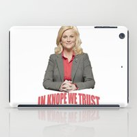 leslie knope iPad Cases featuring In Knope We Trust by Illuminany