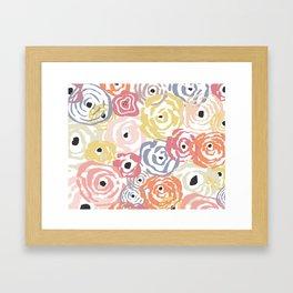 Colorful Flower Bundle Framed Art Print