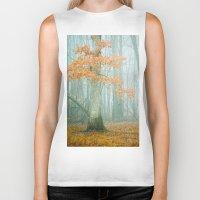 autumn Biker Tanks featuring Autumn Woods by Olivia Joy St.Claire - Modern Nature / T