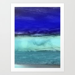 Midnight Waves Seascape Art Print