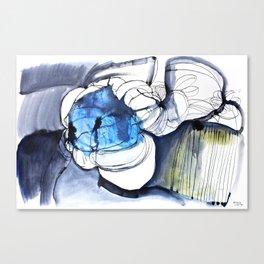 Waterink Blue Canvas Print