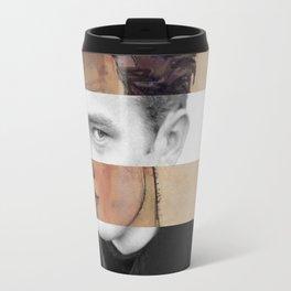 "Schiele's ""Self Portrait with Striped Shirt"" & James Travel Mug"