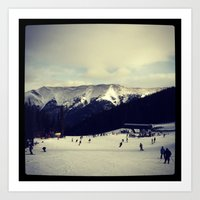 snowy mountain colorado  Art Print