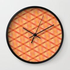 Woven Orange Wall Clock