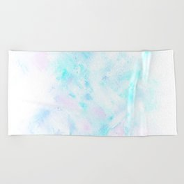 Light Blue Clouds Beach Towel