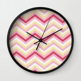 Pink ZigZag Wall Clock