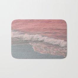 Pink Waves Beach Bath Mat