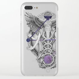 Nomadic by nature Clear iPhone Case