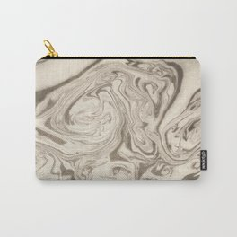 Marble Acrylic Art Grey Carry-All Pouch