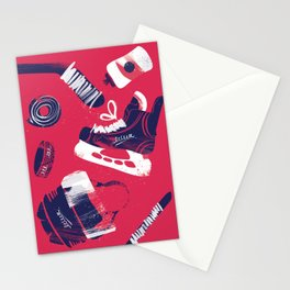 Tools of a Hockey Player Stationery Cards