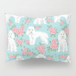 Toy Poodle floral bouquet pet portrait custom dog breed art pattern by pet friendly Pillow Sham