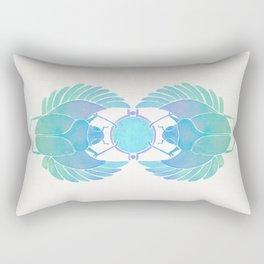 Egyptian Scarab – Turquoise Ombré Rectangular Pillow