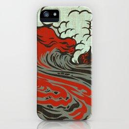 Lava Meets The Sea iPhone Case