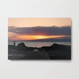 Enoshima sunset Metal Print