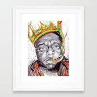 biggie smalls Framed Art Prints featuring Biggie Smalls by Liam Reading