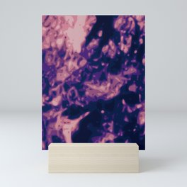 Blue - Purple - Pink Abstract Vector Texture Mini Art Print