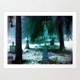 Cemetary Art Print