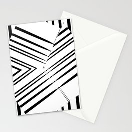 Abstract, geometric fish Stationery Cards