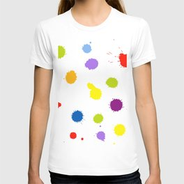 Seamless pattern background with rainbow blots T-shirt