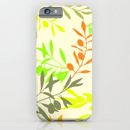 Olive brunch on off white background iPhone Case