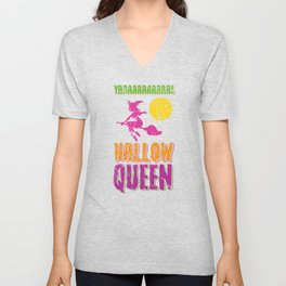 Hallow Queen for Halloween Unisex V-Neck